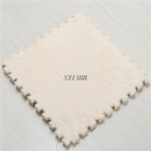 Soft Velvet EVA Foam Floor Mats Home Bedroom Carpet Tiles Baby Playing Pad