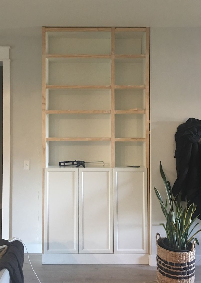 DIY Built Ins in 2020 (With images) Ikea billy bookcase