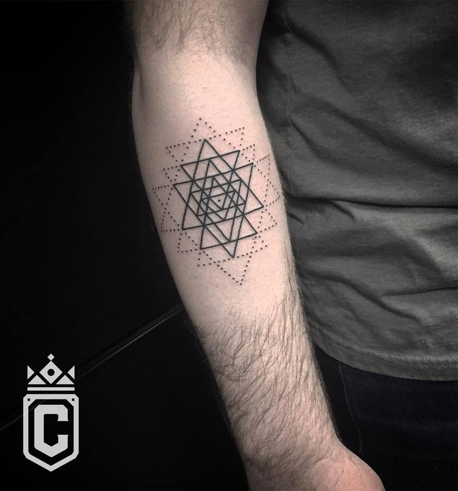 Geometric tattoo by spencer reisbeck at certified tattoo
