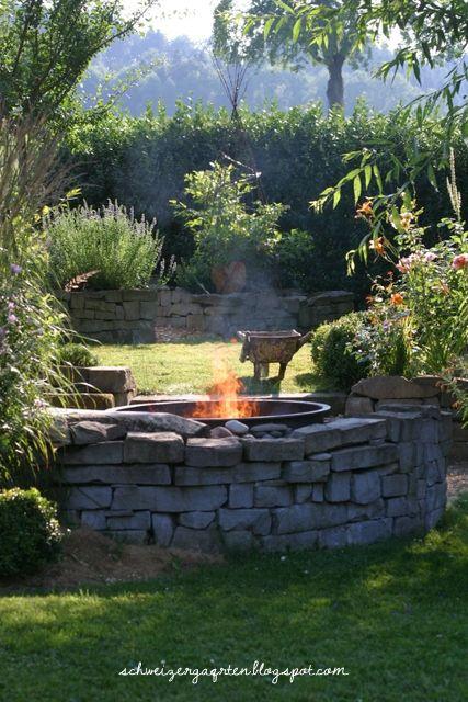Feuerstelle Grillplatz Pinterest Fire fire, Garten and Gardens - feuerstelle im garten gestalten