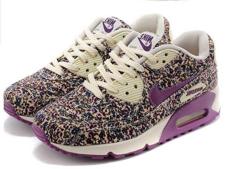 nike air max 90 fleurs femme violet chaussures