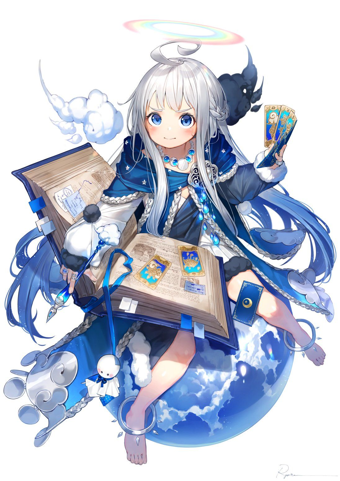 Can T You Tell I M Studying A Spell Here Original Anime Child Anime Anime Images