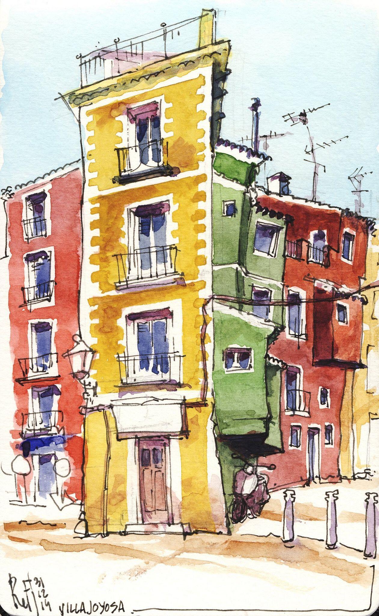 Casco Antiguo de Villajoyosa - La Vila Joiosa | urban sketchers ...