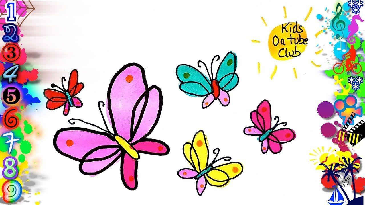 Como Dibujar Mariposas Kawaii Facil Para Ninos How To Draw A