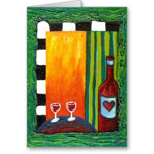 True Love Red Wine Card