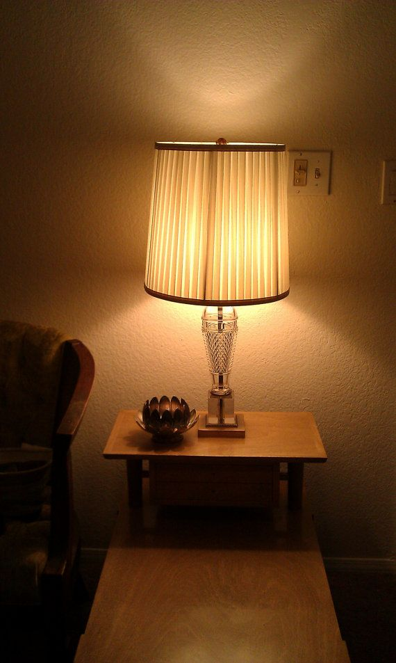 Hollywood Regency 1930s Mutual Sunset Table Lamp Original Silk Shade  PERFECT Glam Lamp By JessFindsVintage, $69.99
