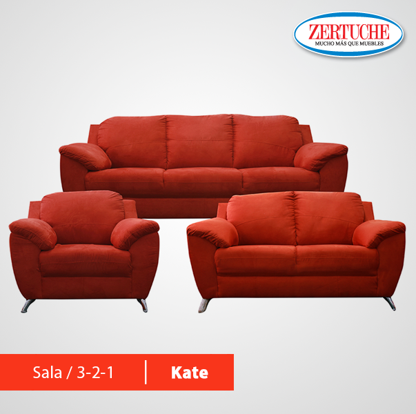 La sala moderna Kate, es tapizada en suede compuesta de sofa,love ...