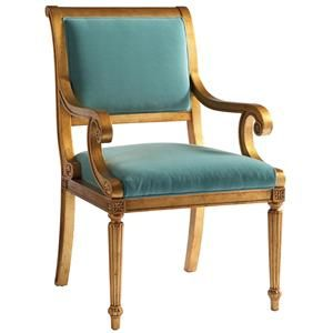 Lillian August Custom Upholstery Exposed Wood Yardley Chair   Hamilton Park  Interiors   Exposed Wood Chair