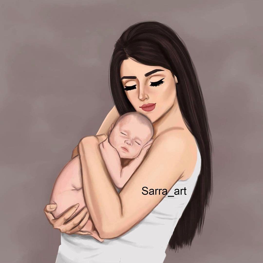 4 443 Likes 356 Comments Sara Ahmed Sarra Art On Instagram أن ت نجبي طفلا يعني أن تسمحي لقلبك Arte De Embarazo Dibujo Madre E Hija Diseno Madre E Hija