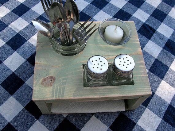 Kitchen table organizer picnic table caddy by irishdayfair for Mobilia kitchen table