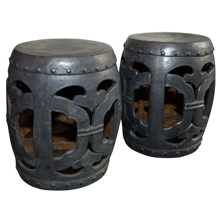 Incroyable Ceramic Garden Stool. China. New. Matte Black Ceramic Garden Stool. $525 Too