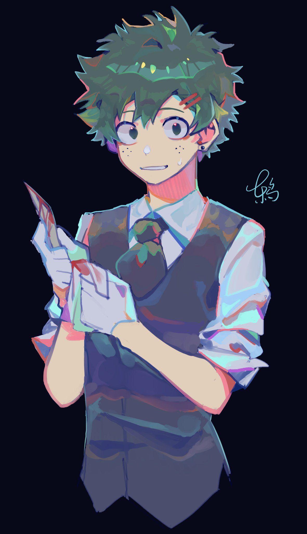 Anime My Hero Academia Anime Fanart Animeboy Art Artwork Manga Villain Deku Anime Hero Wallpaper