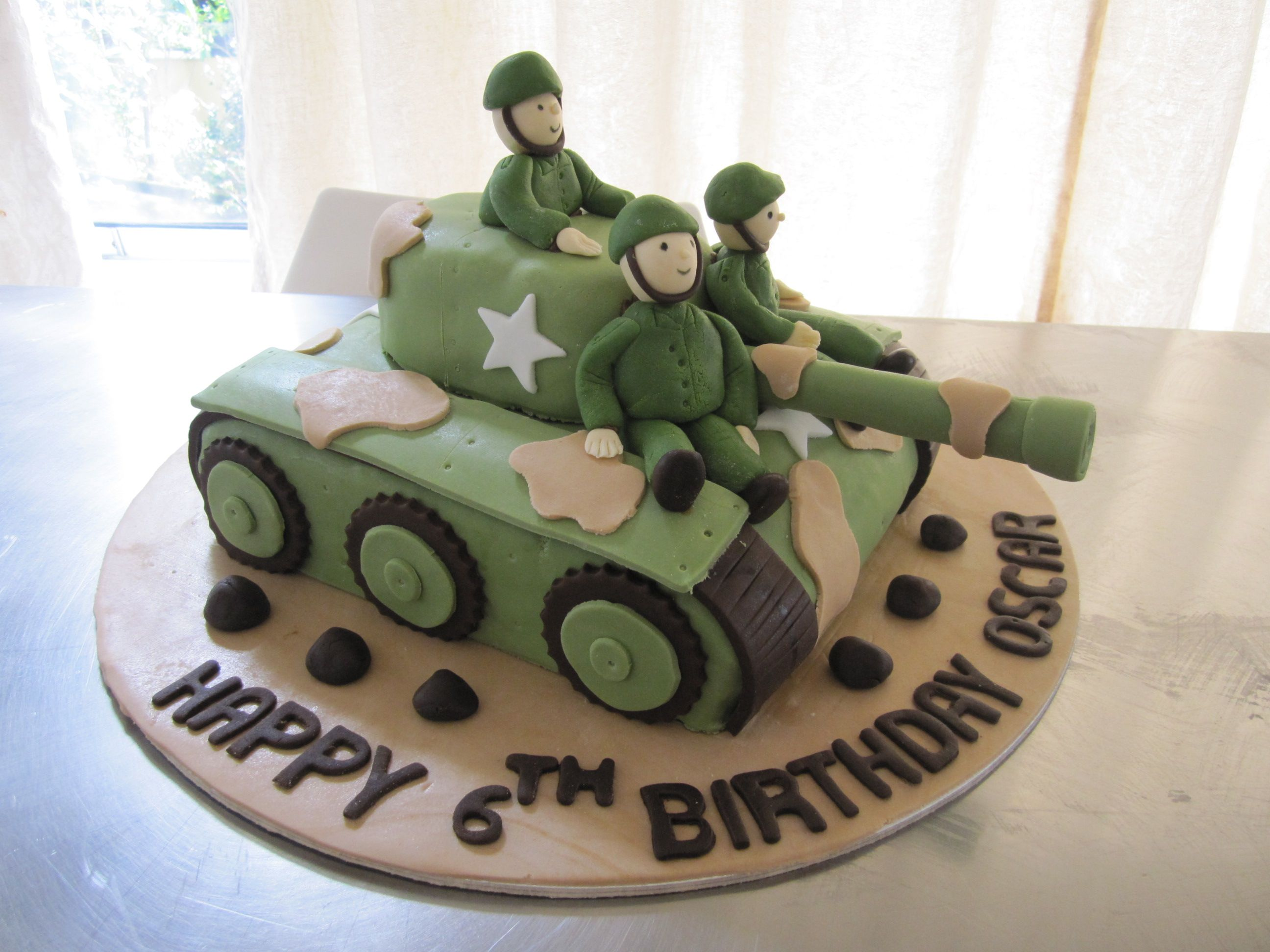 Admirable Army Tank Cake With Images Army Birthday Cakes Army Tank Personalised Birthday Cards Rectzonderlifede