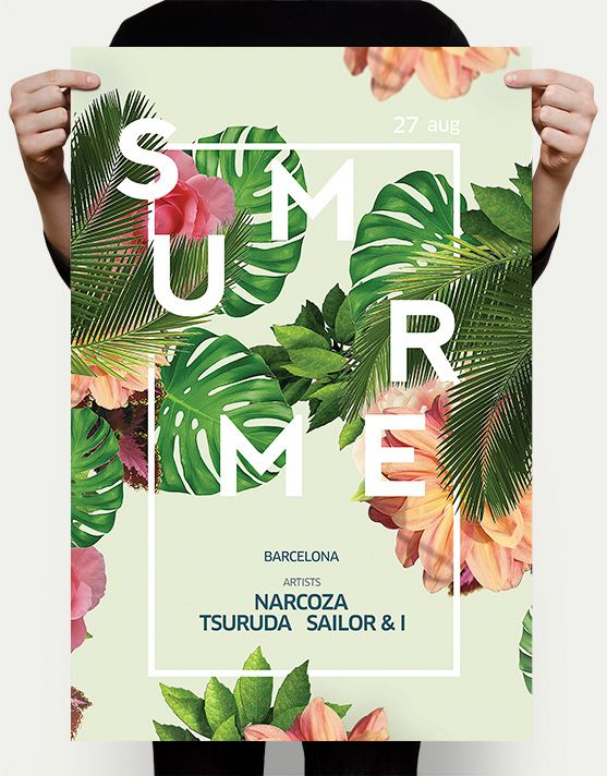 exotic-summer-flyer Summer Flyers Pinterest Exotic, Psd - summer flyer template