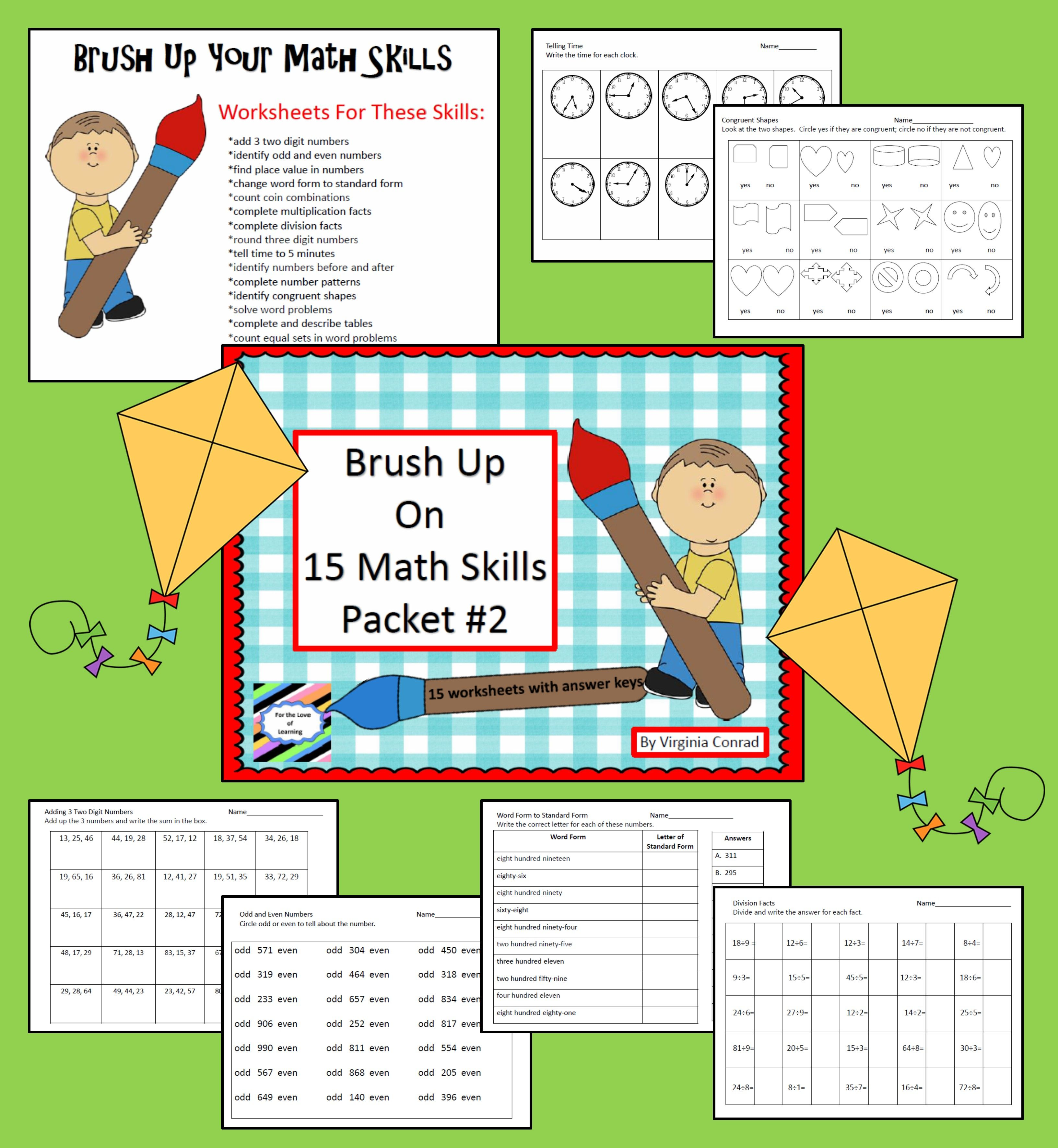 Brush Up Math Skills Packet 2