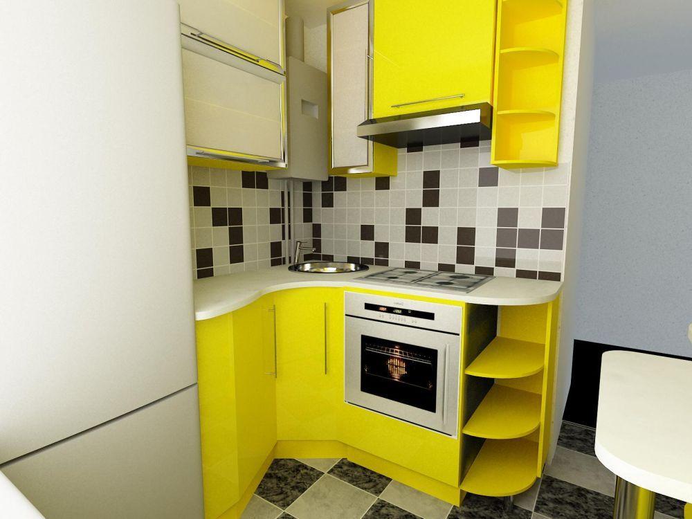 Gele Keuken 9 : Дизайн кухни кв м фото для вдохновения Моя Квартира