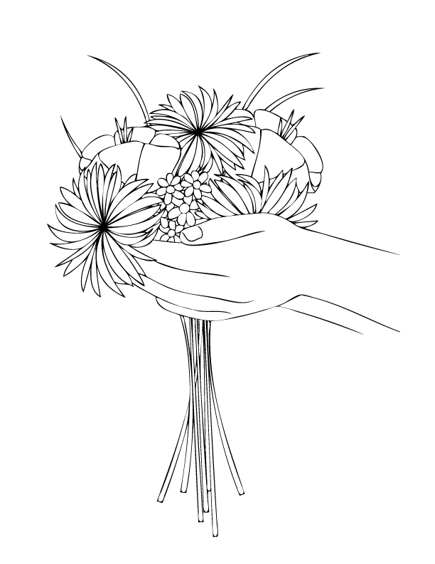 Coloring Pages | Flower bouquets, Crafty and Free printable