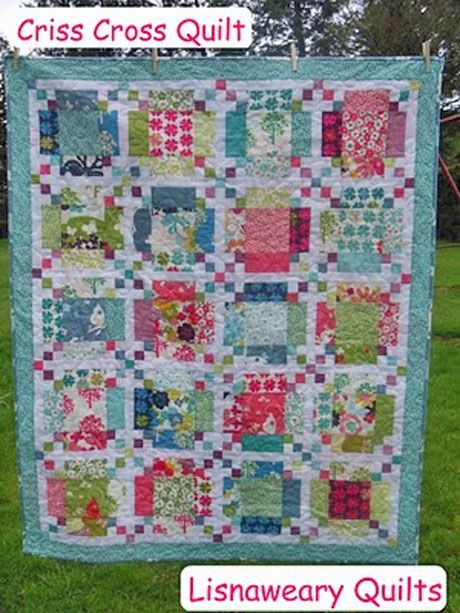 Free Quilt Pattern - Criss Cross Quilt - I'm back with a recipe ... : free patchwork cot quilt patterns - Adamdwight.com