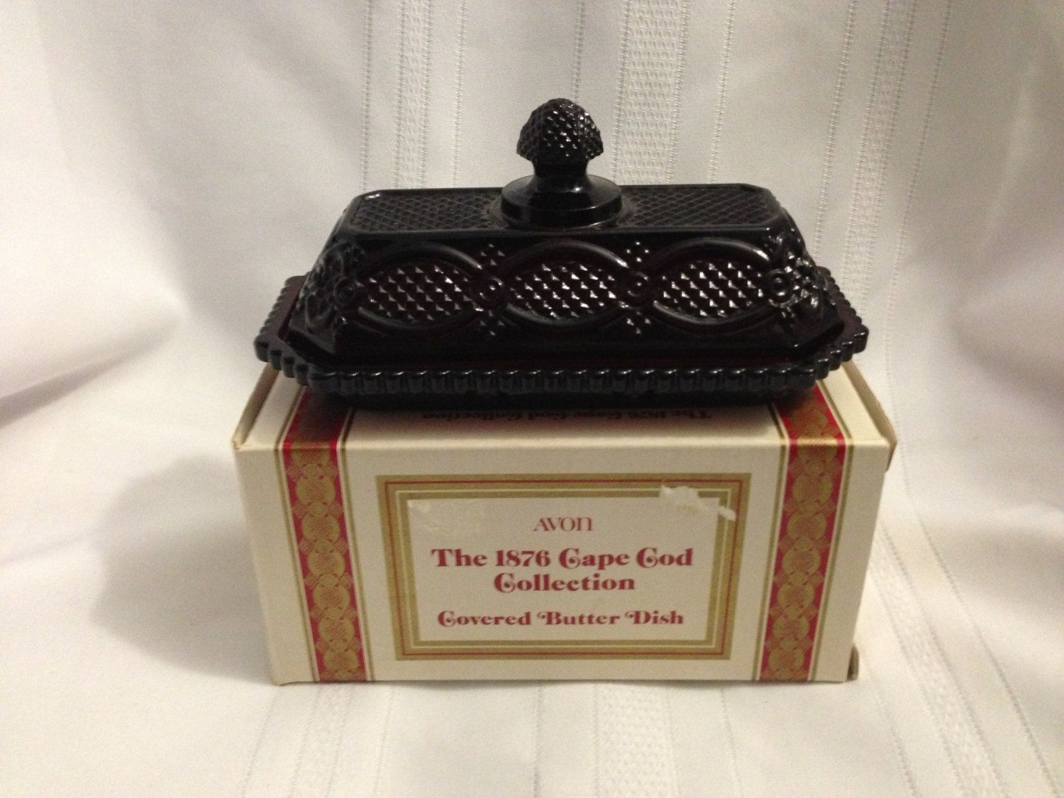 1876 Avon Cape Cod Collection Covered Butter  Dish. $29.99, via Etsy.