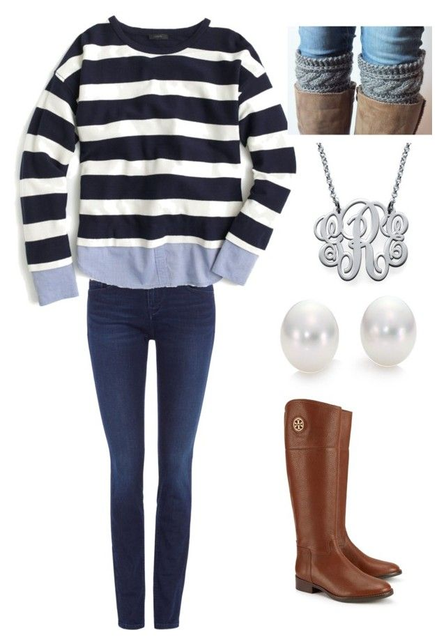 """""""Fall Prep"""" by estrutton ❤ liked on Polyvore featuring Calvin Klein, Tory Burch, J.Crew, Mikimoto and My Name Necklace"""