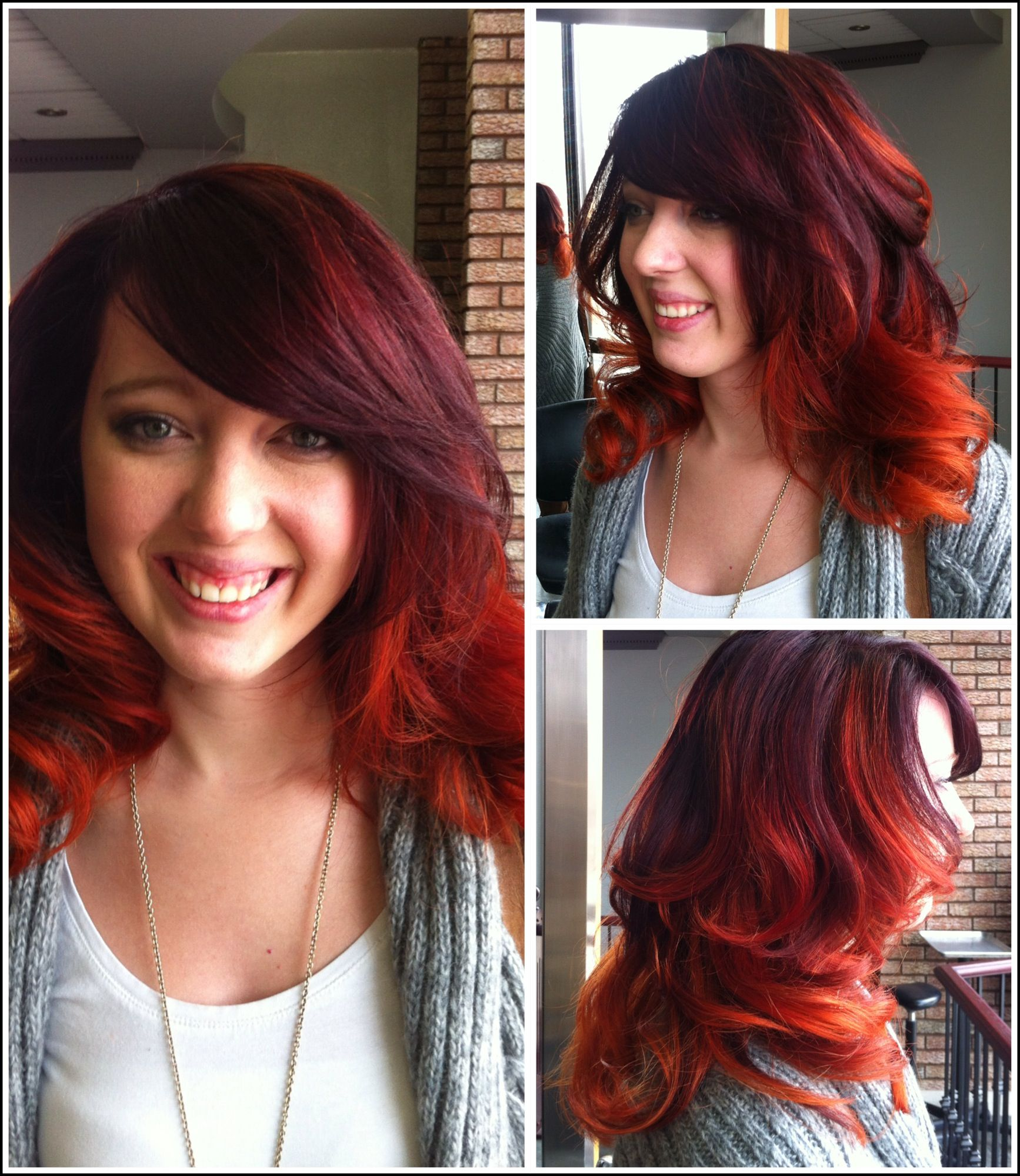 Copper Red Violet Ombre Shades Of Red Pinterest Copper Red