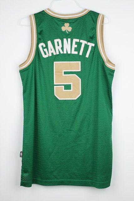 finest selection 5be19 f8fcd Kevin Garnett BOSTON Celtics St. Patricks Day ADIDAS Green ...