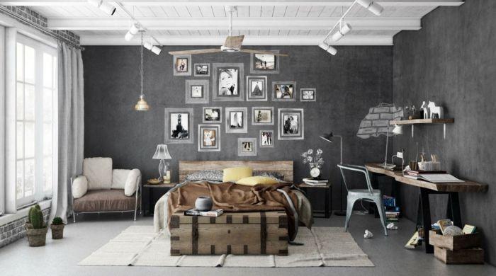 La chambre grise 40 idées pour la déco archzine fr chambre grise chambres rustiques et gris