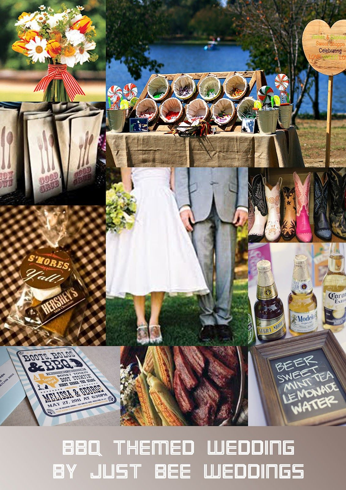 Barbeque Weddings Just Bee Fashion Bbq Themed Wedding