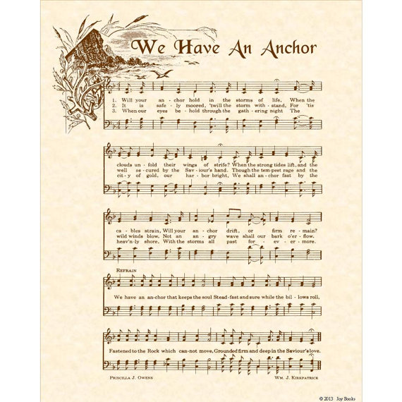 Gospel song the anchor holds