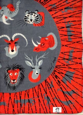 Tammis Keefe, 1950s animal print - like the colours