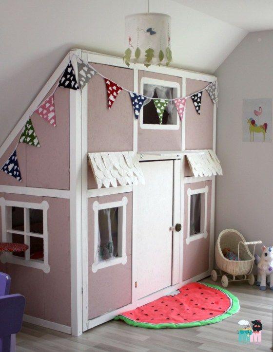 Diy ein hausbett im kinderzimmer chellisrainbowroom f r die kleine kinder zimmer - Alpina kinderzimmer ...