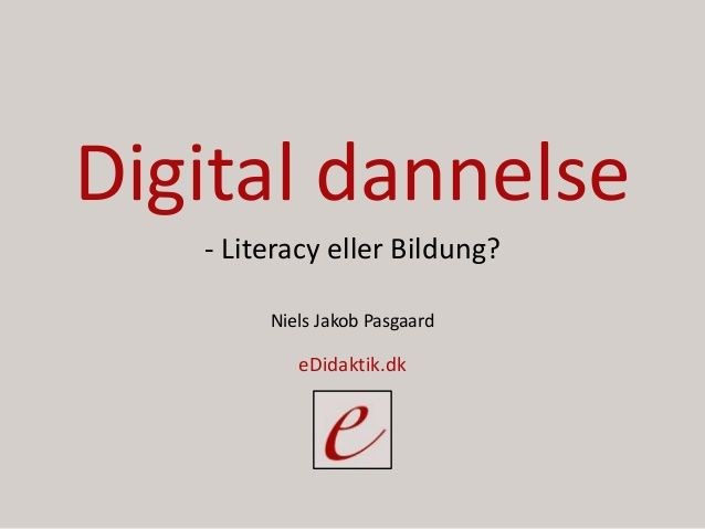 eDidaktik: Digital dannelse