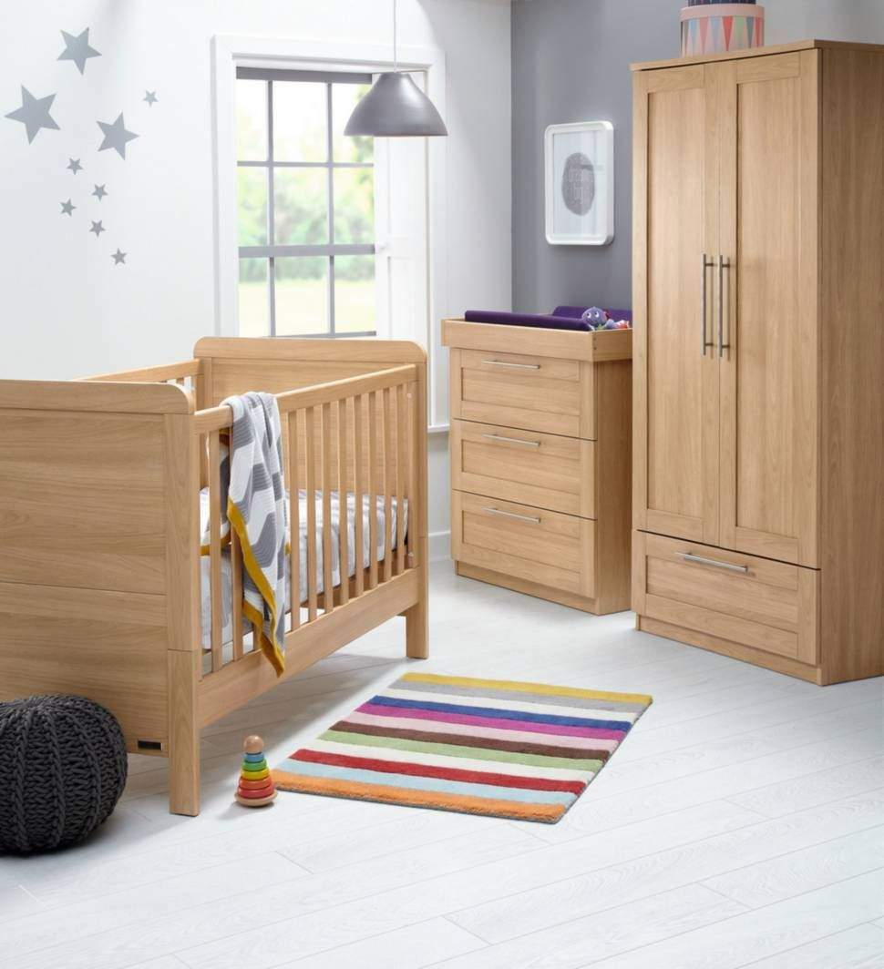 Rialto 3 Piece Set Natural Oak Furniture Sets Nursery
