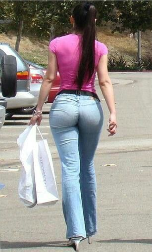 Sexy butts in tight pants