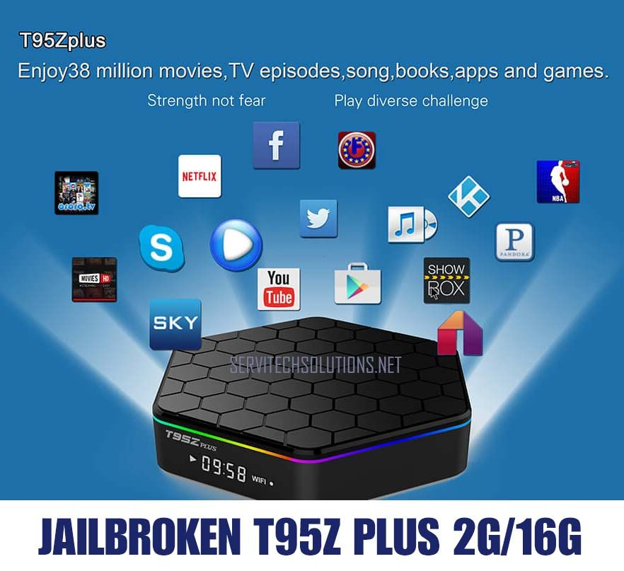 T95Z Plus Box S912 Octa Core Android TV 7 1 dual band 2 4G