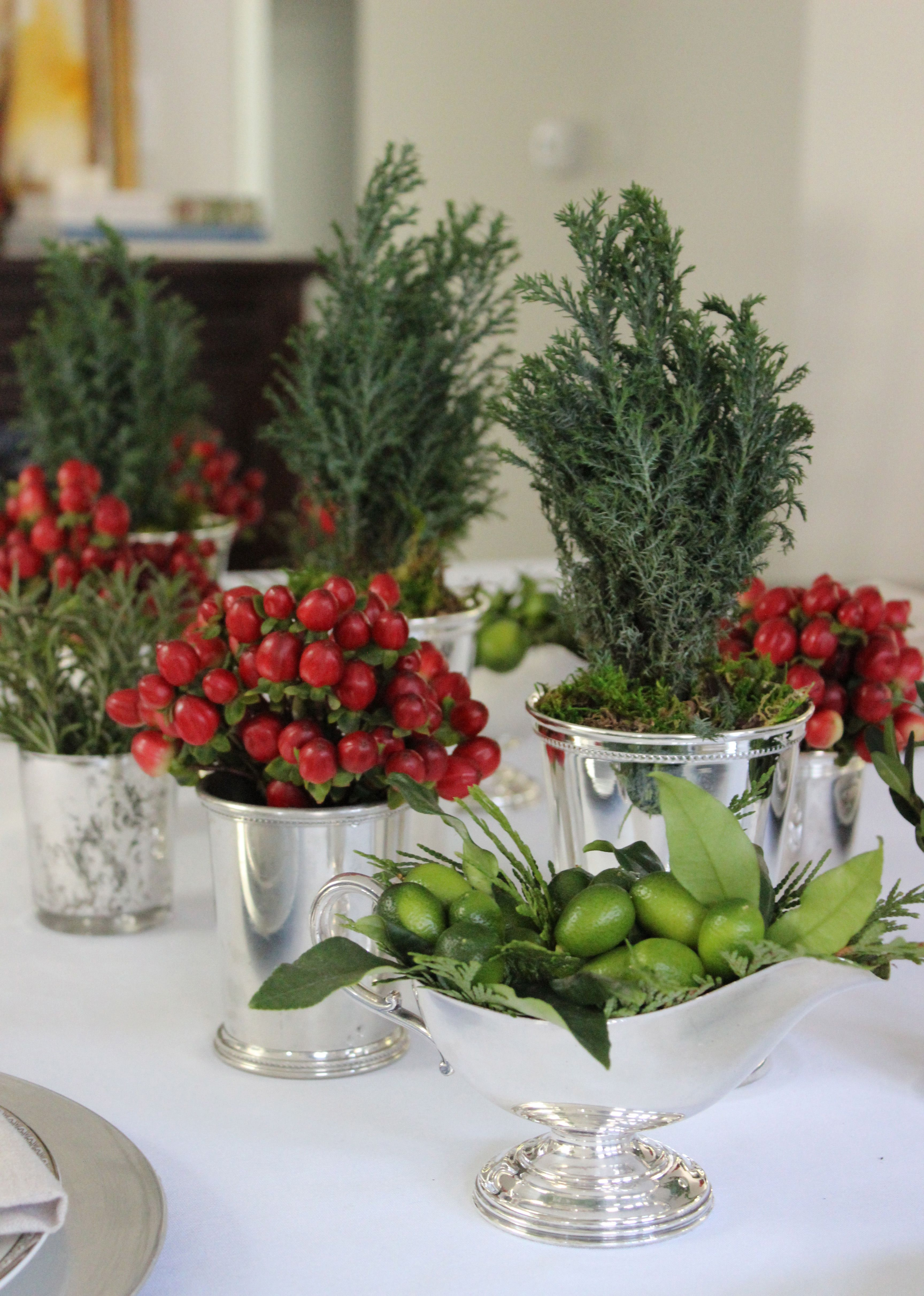 Simple and festive ideas for your table at christmas silver mint simple and festive ideas for your table at christmas silver mint julep cups hypericum reviewsmspy