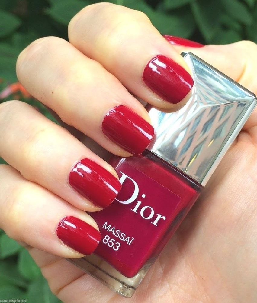 Dior Vernis Nail Lacquer Massai #853 Red Limited Edition 10ml New ...