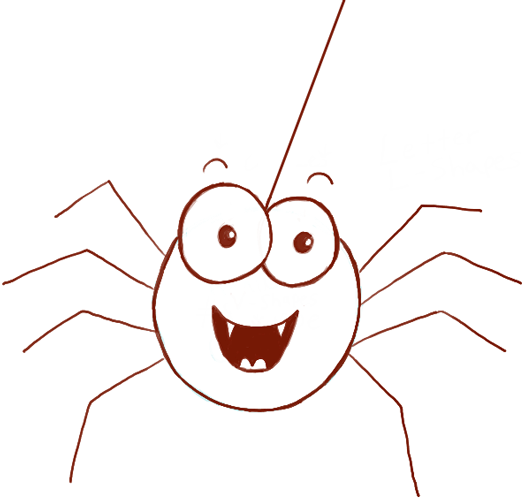 How To Draw Cute Cartoon Spider With Easy Steps For Preschoolers How To Draw Step By Step Drawing Tutorials Spider Drawing Easy Halloween Drawings Cute Halloween Drawings