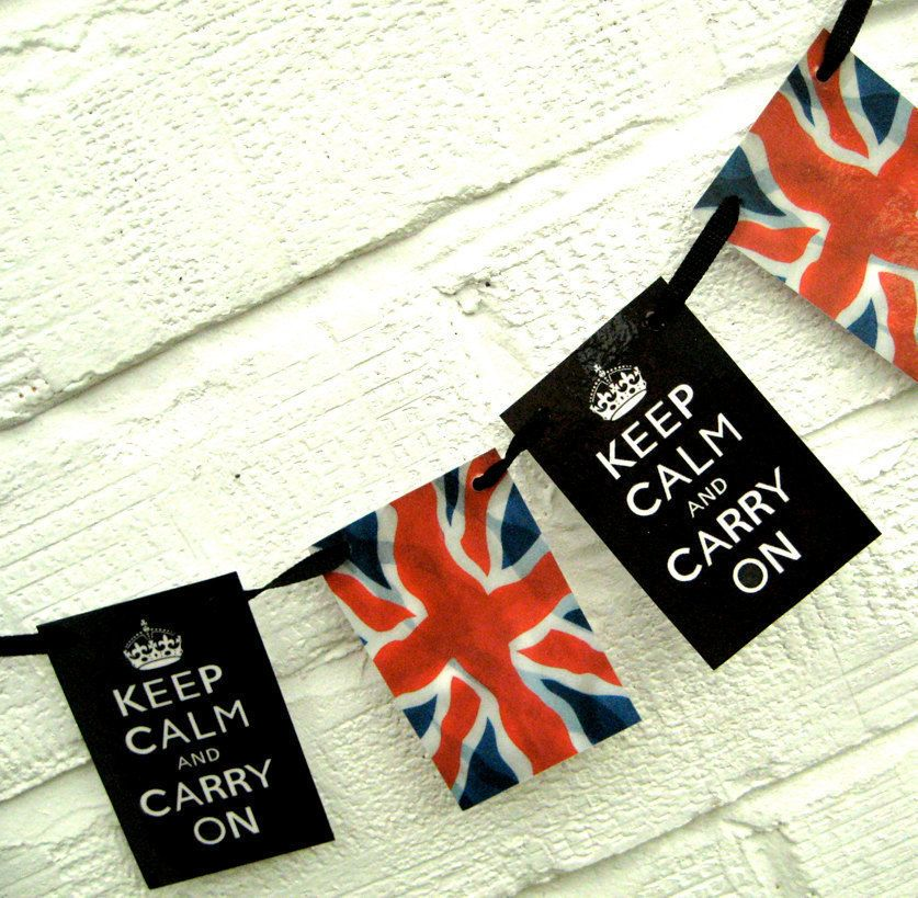 Keep calm carry on union jack bunting from hoolala union for Ohrensessel union jack