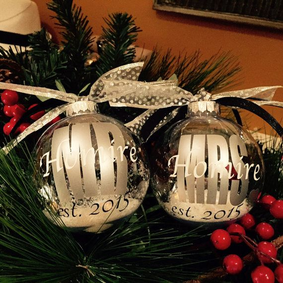 Wedding Gift Christmas ball ornament by ArtsyWallsAndMore on Etsy