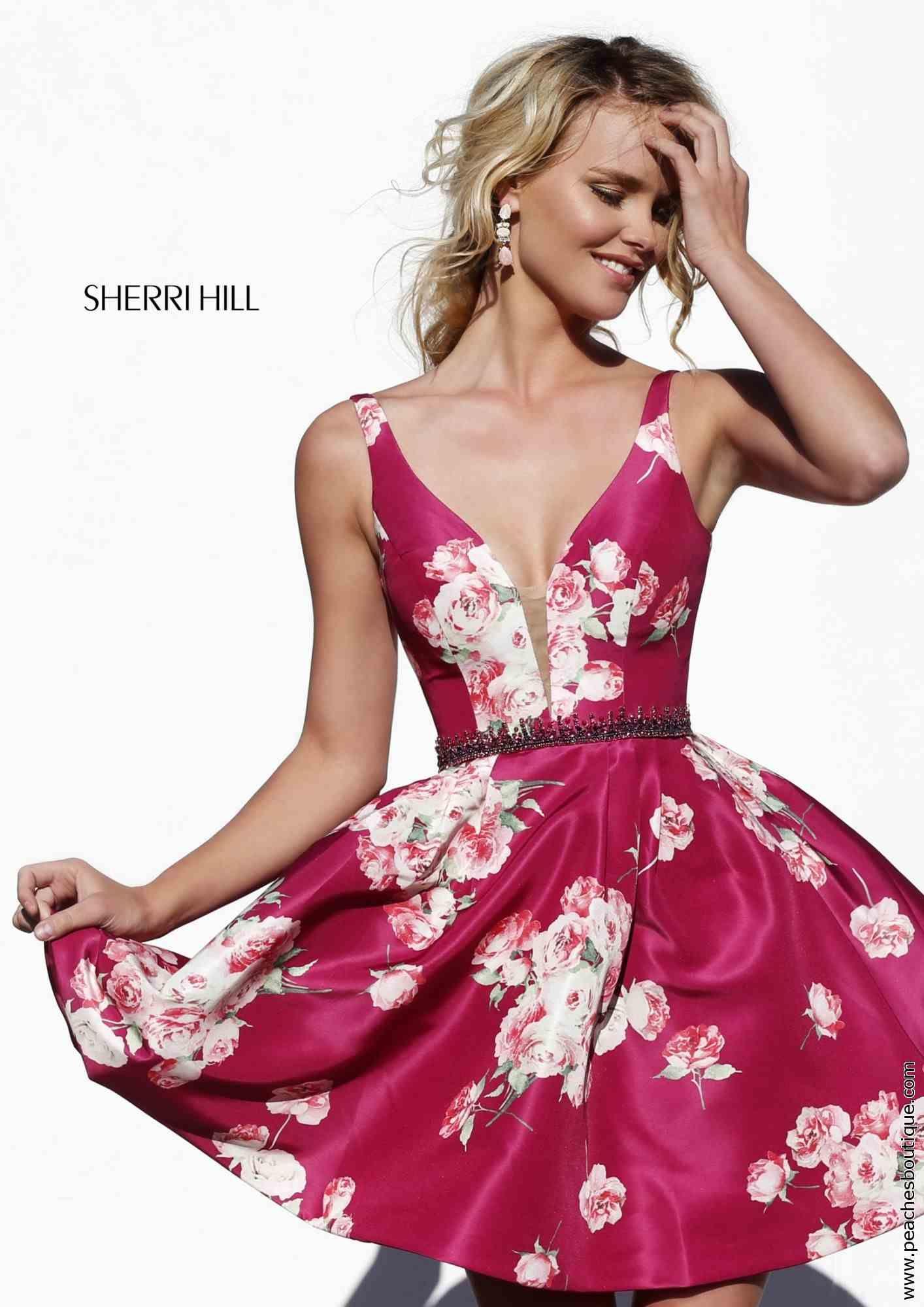 Short Plunging Dresses