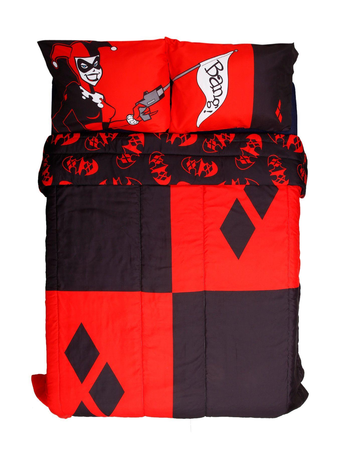 Dc Comics Harley Quinn Diamond Fullqueen Comforter