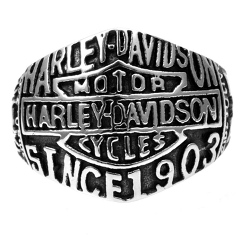 Sz 7 15 Vintage Stainless Steel Motor Biker Ring Live to Ride Eagle Skull Punk | eBay