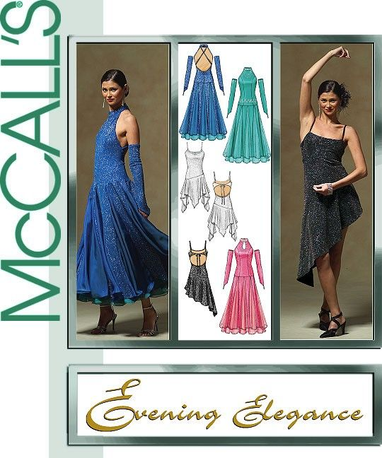 2cb9012fd Diy Sewing Pattern McCall's 5136,Ballroom Dress Pattern, Dance Pattern,  Evening Gown Pattern,Glove Pattern