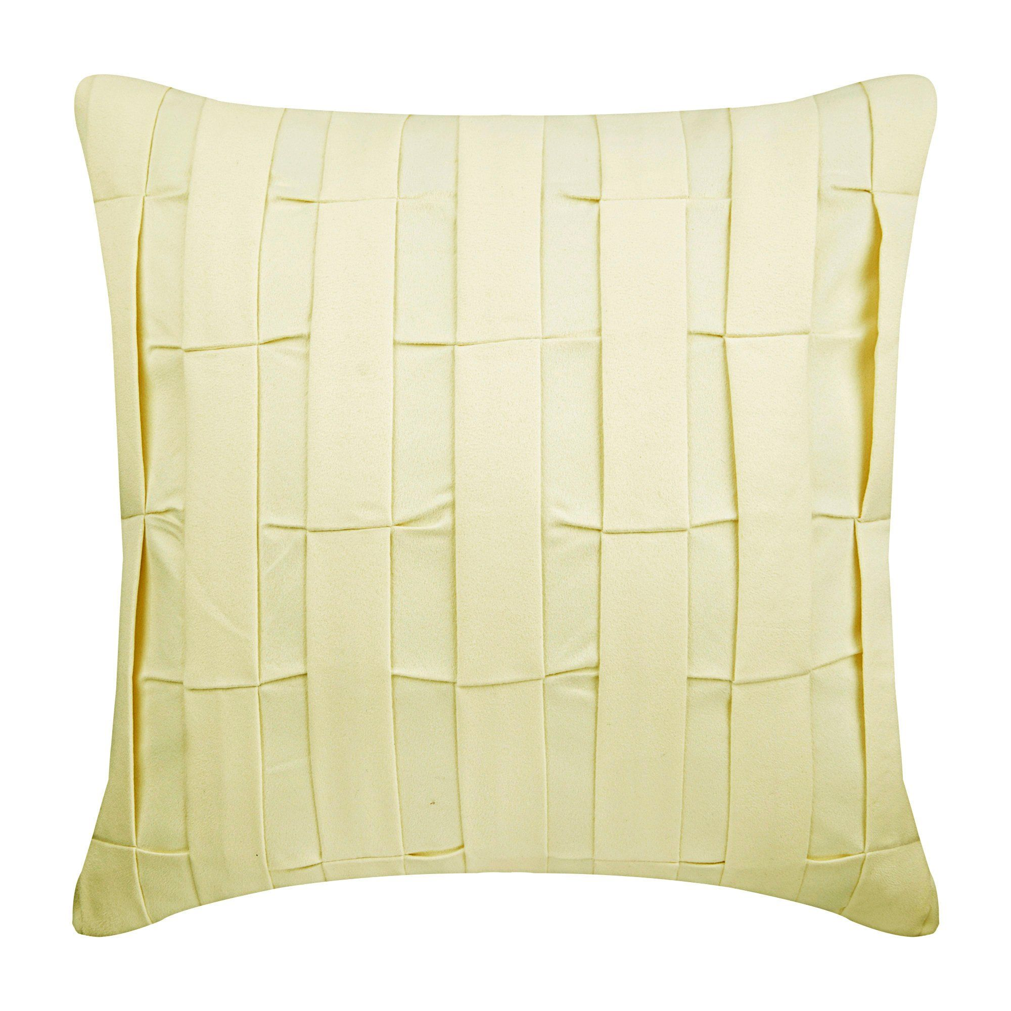 Cream Couch Sofa Cushion Covers 12 X 12 Pillow Covers Suede