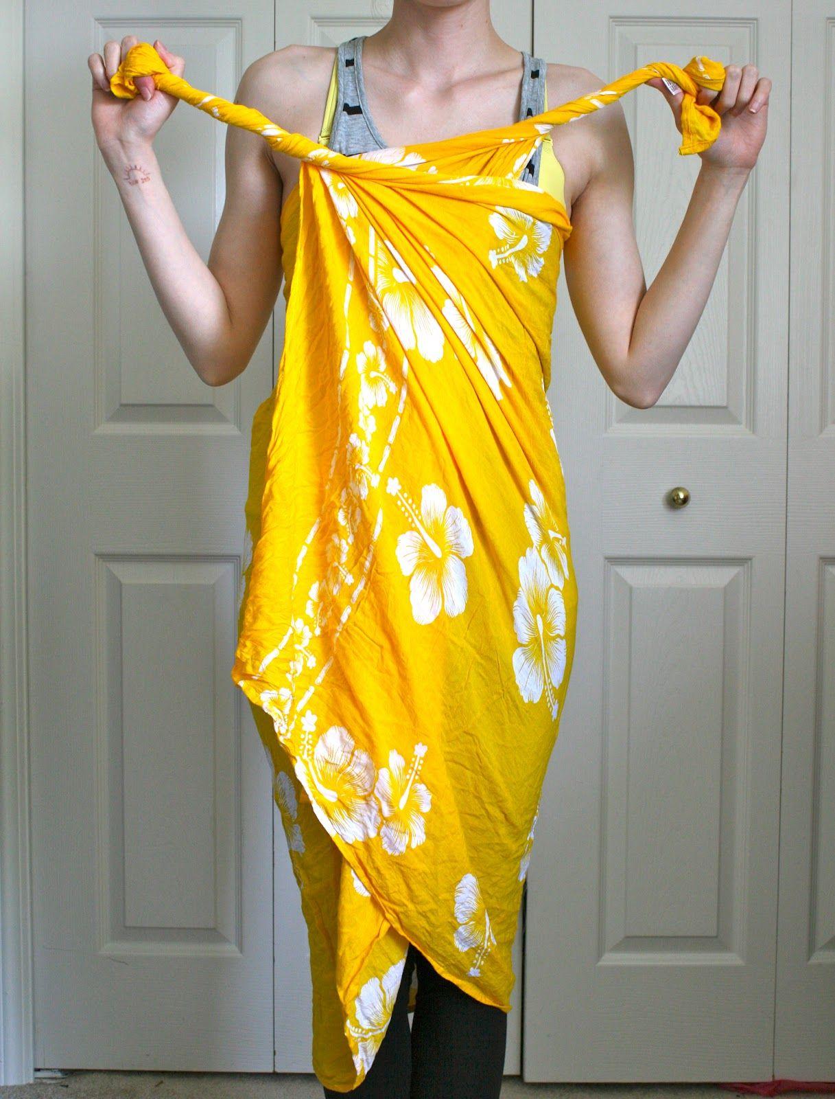 Diy No Sew Beach Cover How To Use A Pareo Sarong Fashion Beach Sarong Beach Dresses Diy [ 1600 x 1217 Pixel ]