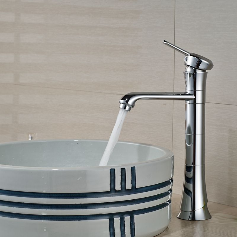 Wholesale And Retail Tall Bathroom Basin Faucet Chrome Finish Solid ...