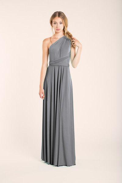 e13c0aee97 Vestido largo gris plata - moda y accesorios para mujer - hecho a mano en  DaWanda.es