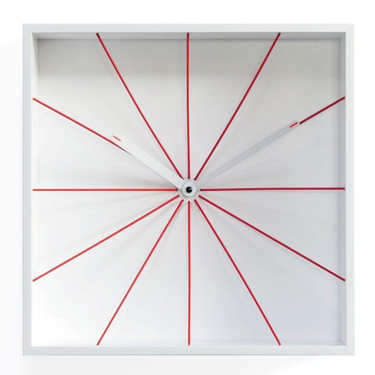 Perspective Wall Clock - designer white box clock