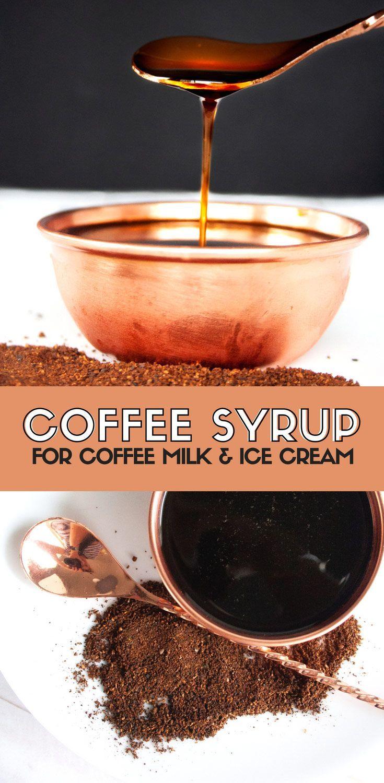 Coffee syrup for coffee milk recipe coffee recipes